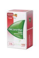 Nicorette 2 Mg Gomme à Mâcher Médicamenteuse Sans Sucre Fruits Plq/105 à BOURG-SAINT-MAURICE
