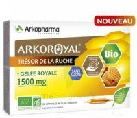 Arkoroyal Gelée Royale Bio Sans Sucre 1500mg Solution Buvable 20 Ampoules/10ml à BOURG-SAINT-MAURICE