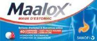 Maalox Maux D'estomac Hydroxyde D'aluminium/hydroxyde De Magnesium 400 Mg/400 Mg Sans Sucre Fruits Rouges, Comprimé à Croquer édulcoré à La Saccharine Sodique, Au Sorbitol Et Au Maltitol à BOURG-SAINT-MAURICE