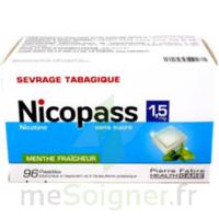 Nicopass 1,5 Mg Pastille Sans Sucre Menthe Fraîcheur Plq/96 à BOURG-SAINT-MAURICE