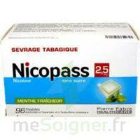 Nicopass 2,5 Mg Pastille Menthe Fraîcheur Sans Sucre Plq/96 à BOURG-SAINT-MAURICE
