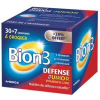 Bion 3 Défense Junior Comprimés à Croquer Framboise B/30+7 à BOURG-SAINT-MAURICE