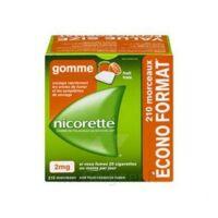 Nicorette 2 Mg Gomme à Mâcher Médicamenteuse Sans Sucre Fruits Plq/210 à BOURG-SAINT-MAURICE