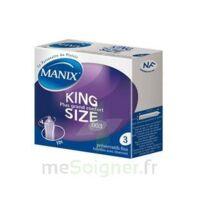 Manix King Size Préservatif Avec Réservoir Lubrifié Confort B/3 à BOURG-SAINT-MAURICE